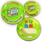 11000 Finds Geocoin + Pin + Box