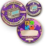 13000 Finds Geocoin + Pin + Box