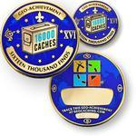 16000 Finds Geocoin + Pin + Box
