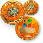 17000 Finds Geocoin + Pin + Box