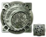 Star Map XXXXL Geocoin Antique Silver Blue