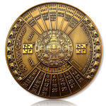 50 Years Calendar XXXL Geocoin Antique Gold