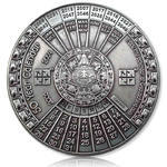 50 Years Calendar XXXL Geocoin Antique Silver