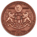 1918 The Birth of Czechoslovakia - Antique Gold