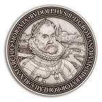 Rudolf II. Geocoin - Antique Silver