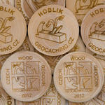 Wooden Coin 75 pcs
