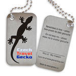 Czech Travel Gecko tag - black