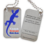 Czech Travel Gecko tag - blue