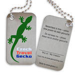 Czech Travel Gecko tag - zelená