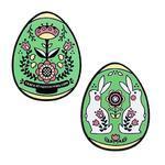 Velikonoční vajíčko geocoin - zelené