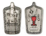Husitský geocoin - Antique Silver