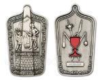 Husitský geocoin - Antique Silver