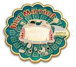 Just Married svatební geocoin - Gold