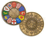 Knights of the Round Table Geocoin - Antique Gold