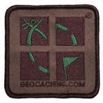 Camo Geocaching Logo Patch