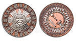 Suncompass Geocoin Antique Copper / Nickel