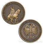 Svatý Václav Geocoin - antique gold