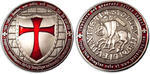 Templar Geocoin Antique Silver