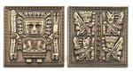 Tiahuanaco - Brána slunce - antique gold