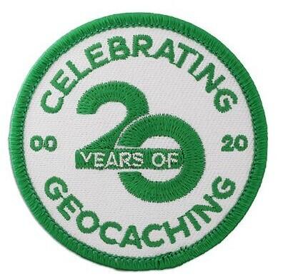 Nášivka Celebrating 20 Years of Geocaching