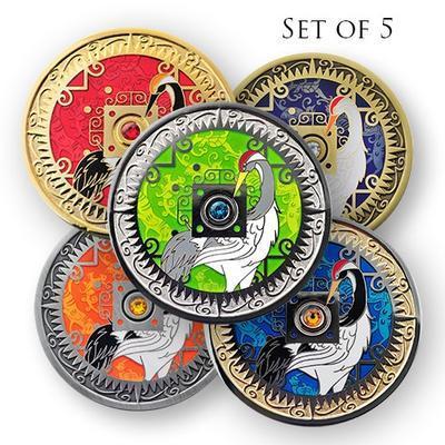 Compass Rose Geocoin 2014 - 5 set - 1