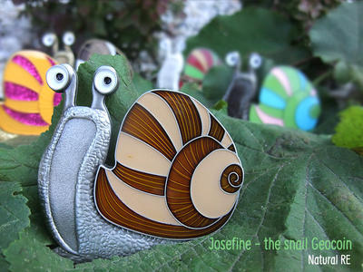 Josefine - the Snail Geocoin - Natural RE