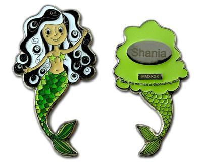 Mermaid Geocoin - Malá mořská víla Shania