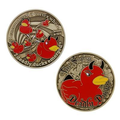 Seven Deadly Ducks Geocoin