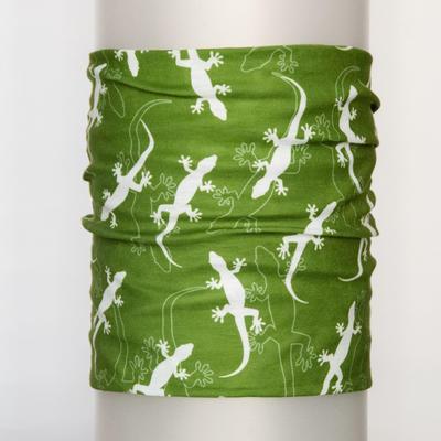 Funční šátek Ještěrky - olive green - 1