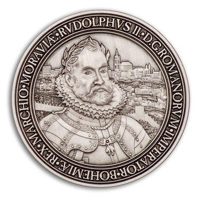Rudolf II. Geocoin - Antique Silver - 1