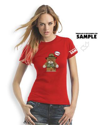 Megaevent tričko Brugse Beer V - dámské červené trackovatelné