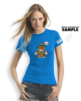 Megaevent tričko Brugse Beer V - dámské modré trackovatelné