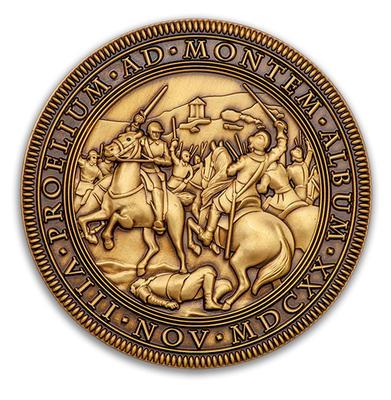 """Geocoin """"Bitva na Bílé hoře 1620-2020"""" - Antique Bronze - 1"""