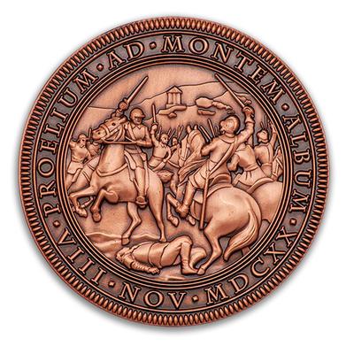 """Geocoin """"Bitva na Bílé hoře 1620-2020"""" - Antique Copper - 1"""