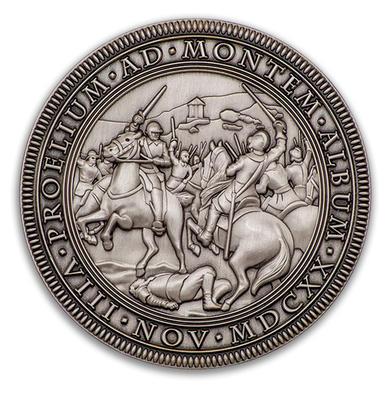 """Geocoin """"Bitva na Bílé hoře 1620-2020"""" - Antique Silver - 1"""
