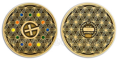 The Colors of Geocaching Geocoin - Antique Gold