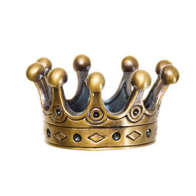 Countess' Crown Geocoin - Antique Gold - 1
