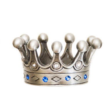 Countess' Crown Geocoin - Antique Silver s kameny - 1