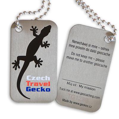Czech Travel Gecko tag - černá