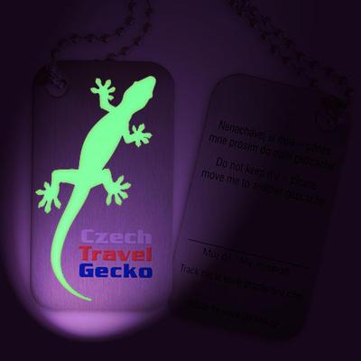 Czech Travel Gecko tag - svítící - 1