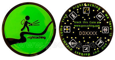 Darkest Dreams Geocoin - Green Night - 1
