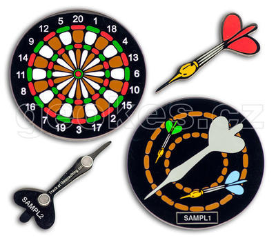 Dartboard Geocoin - Black Nickel - 1