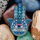 Hamsa Amulet Geocoin - Sapphire - 1/2