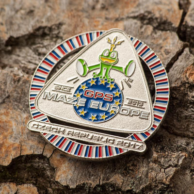 GPS MAZE Europe 2017 Geocoin - Nickel Edition - 1