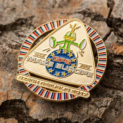 GPS MAZE Europe 2017 Geocoin - Gold Edition - 1
