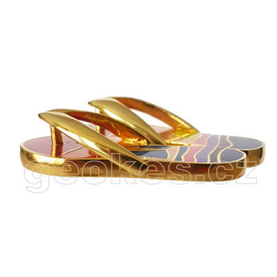 Sunset Flip Flops Geocoin - 1