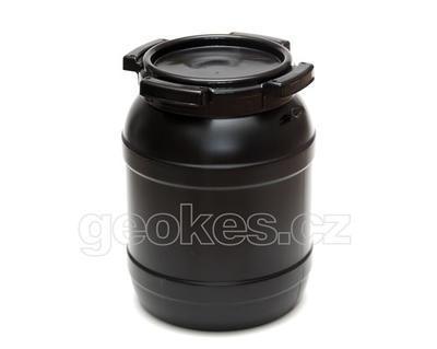 Černá geocache soudek 6 litrů - 1