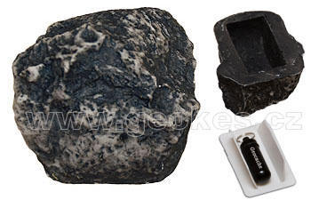 Geocache kámen - komplet včetně microcache - 1