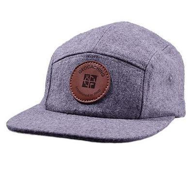 Geocaching Logo 5 Panel Camper Hat- Grey - 1