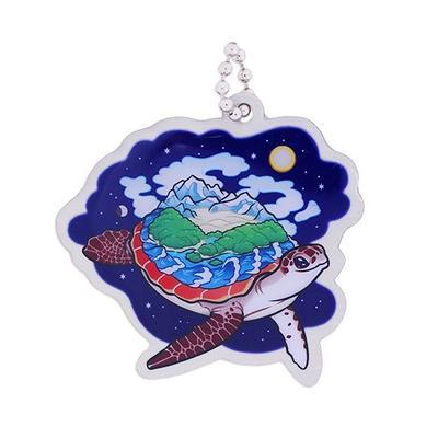 Hidden Creatures Travel Tag - World Turtle